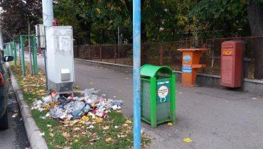 gunoi pe stradă